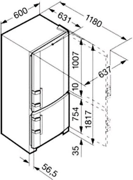 купить Двухкамерный холодильник Liebherr C 3523 Украина фото 4