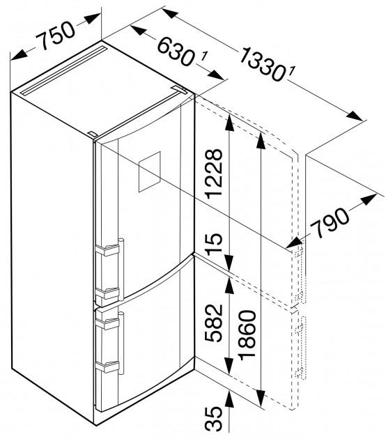 купить Двухкамерный холодильник Liebherr CBNPes 4656 Украина фото 9