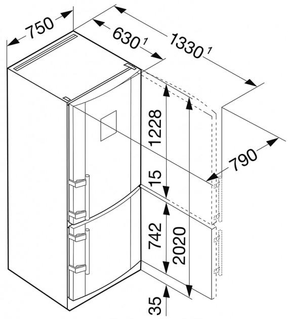 купить Двухкамерный холодильник Liebherr CBNPes 5156 Украина фото 6