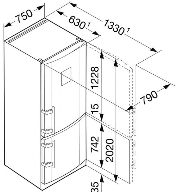 купить Двухкамерный холодильник Liebherr CBNPes 5167 Украина фото 8