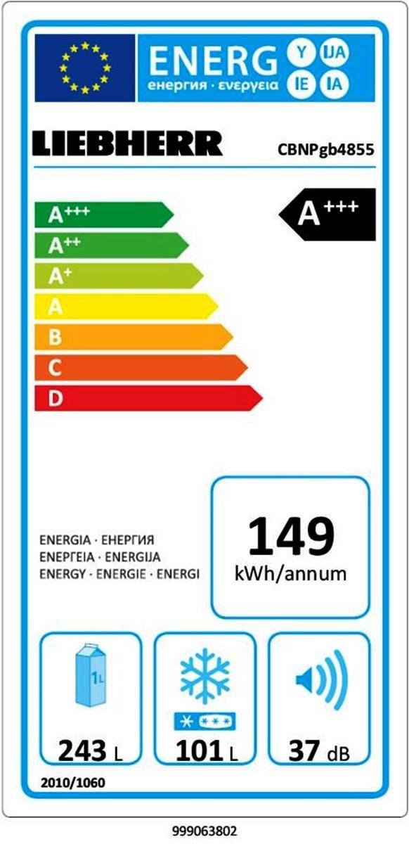 купить Двухкамерный холодильник Liebherr CBNPgb 4855 Украина фото 2