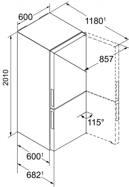 купить Двухкамерный холодильник Liebherr CBNPgb 4855 Украина фото 1