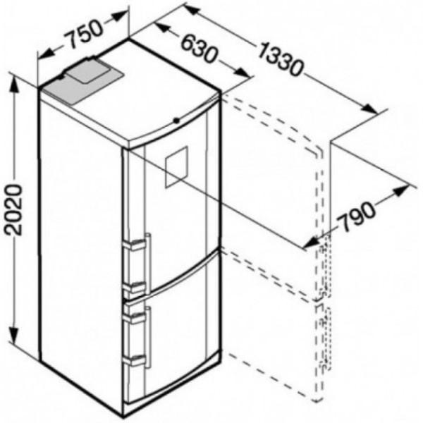 купить Двухкамерный холодильник Liebherr CBNes 5167 Украина фото 6