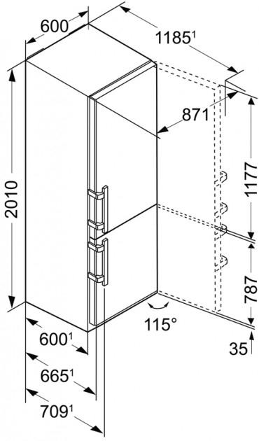 купить Двухкамерный холодильник Liebherr CBPef 4815 Украина фото 12