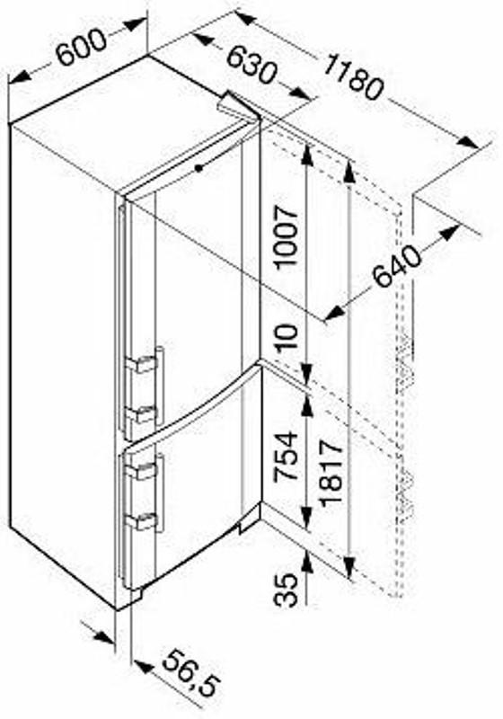 купить Двухкамерный холодильник Liebherr CN 3503 Украина фото 1