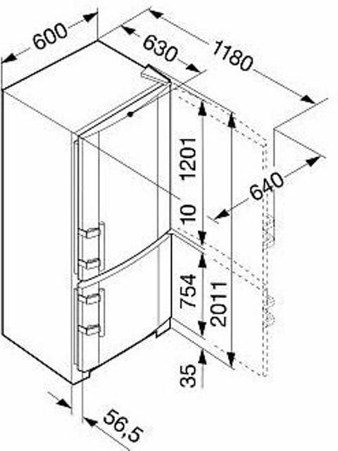 купить Двухкамерный холодильник Liebherr CN 4013 Украина фото 3