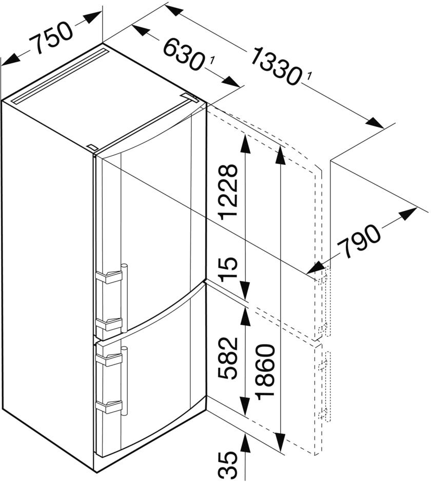 купить Двухкамерный холодильник Liebherr CN 4613 Украина фото 1