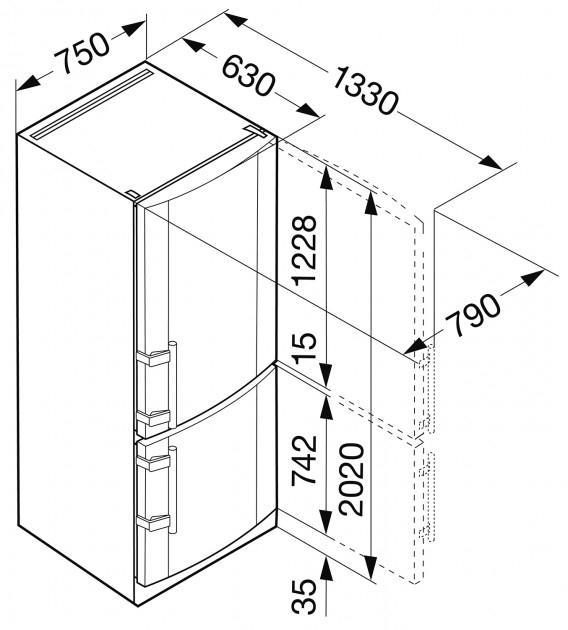 купить Двухкамерный холодильник Liebherr CN 5113 Украина фото 1