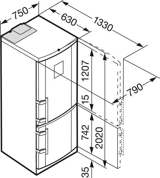 купить Двухкамерный холодильник Liebherr CN 5156 Украина фото 2