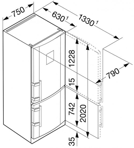 купить Двухкамерный холодильник Liebherr CNPes 5156 Украина фото 5
