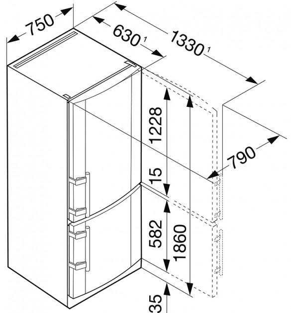 купить Двухкамерный холодильник Liebherr CNPesf 4613 Украина фото 3