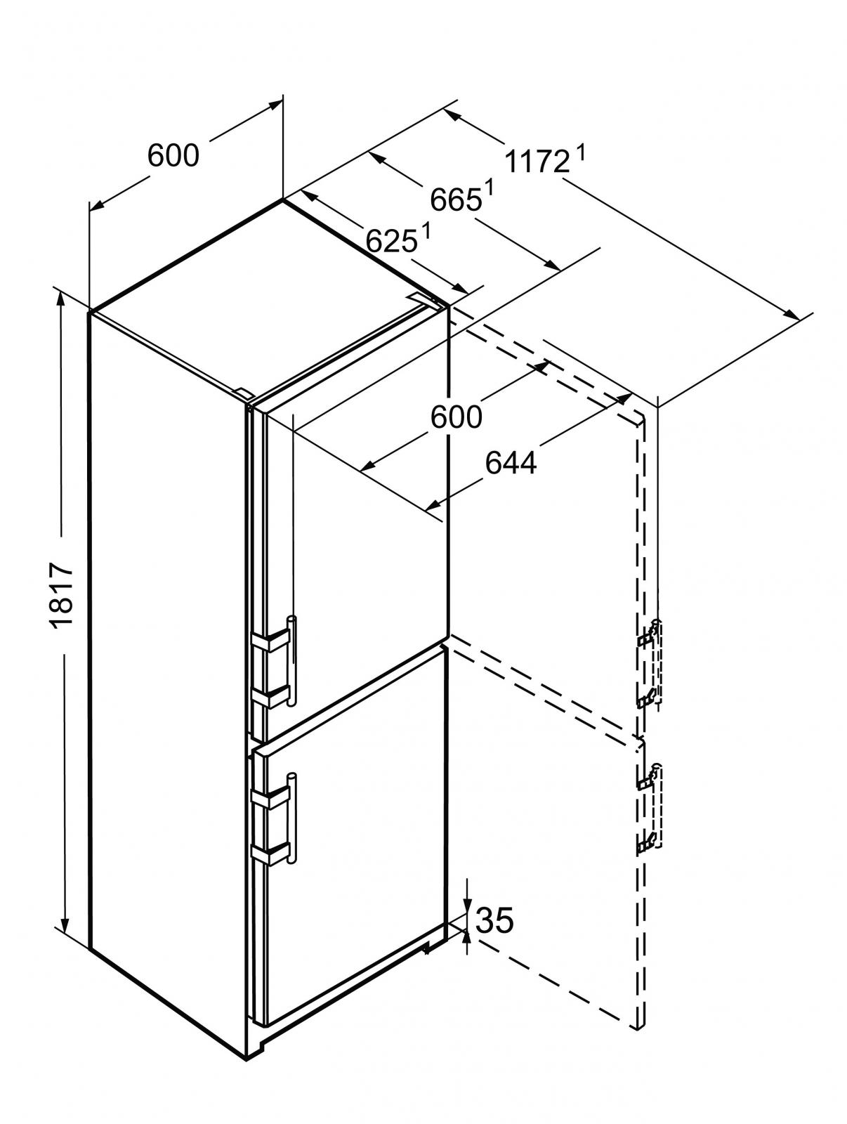 купить Двухкамерный холодильник Liebherr CNef 3535 Украина фото 12