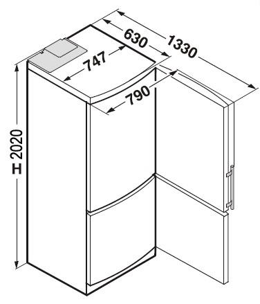 купить Двухкамерный холодильник Liebherr CNes 5156 Украина фото 1