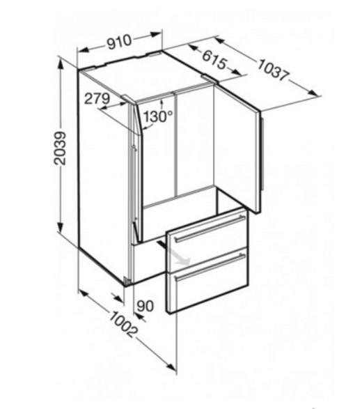 купить Двухкамерный холодильник Liebherr CNes 6256 Украина фото 8