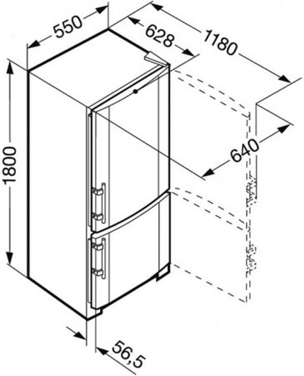 купить Двухкамерный холодильник Liebherr CNesf 3033 Украина фото 3