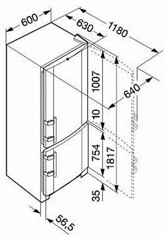 купить Двухкамерный холодильник Liebherr CNsl 3503 Украина фото 3