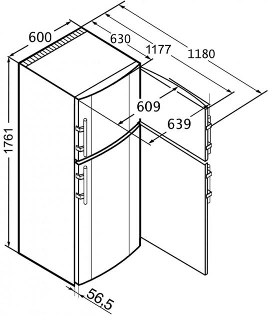 купить Двухкамерный холодильник Liebherr CT 3306 Украина фото 4