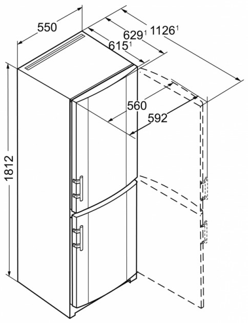 купить Двухкамерный холодильник Liebherr CU 3311 Украина фото 6
