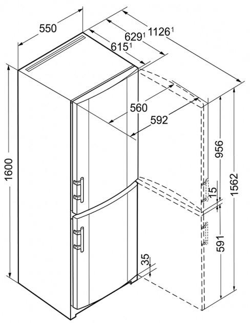 купить Двухкамерный холодильник Liebherr CUef 2811 Украина фото 6