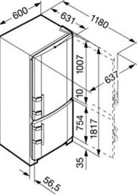 купить Двухкамерный холодильник Liebherr CUesf 3503 Украина фото 4