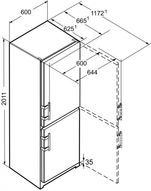 купить Двухкамерный холодильник Liebherr Cef 4025 Украина фото 10