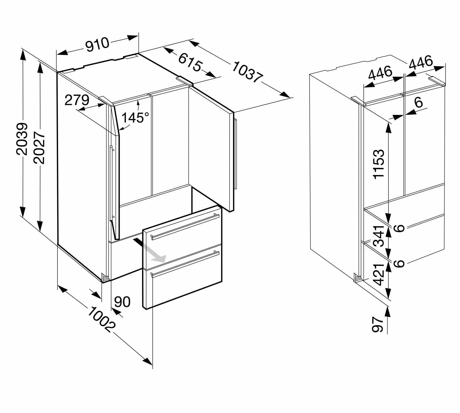 купить Двухкамерный холодильник Liebherr CBNes 6256 Украина фото 11