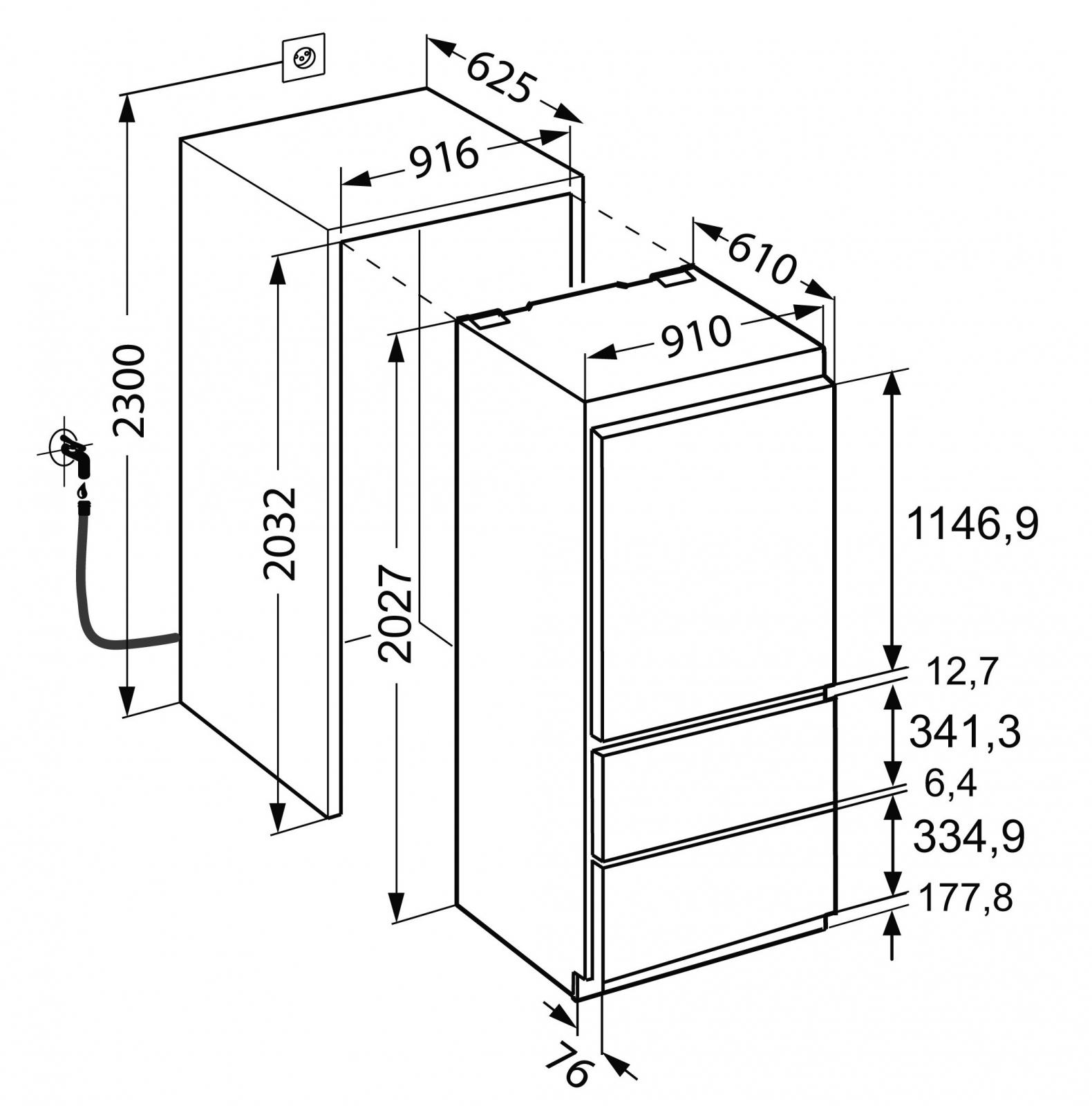 купить Встраиваемый двухкамерный холодильник Liebherr ECBN 6156 Украина фото 7