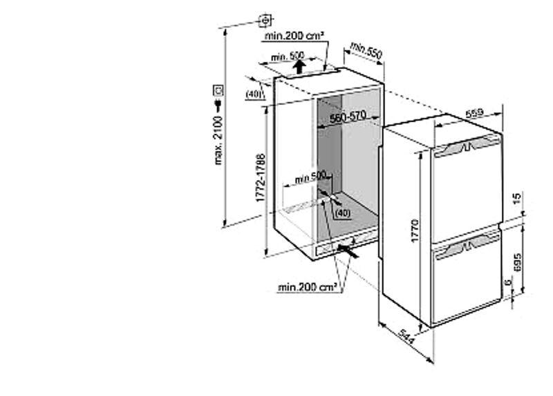 купить Встраиваемый двухкамерный холодильник Liebherr ICBN 3314 Украина фото 1