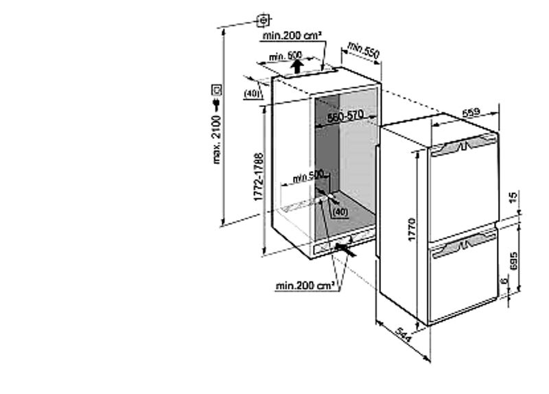 купить Встраиваемый двухкамерный холодильник Liebherr ICBN 3356 Украина фото 1