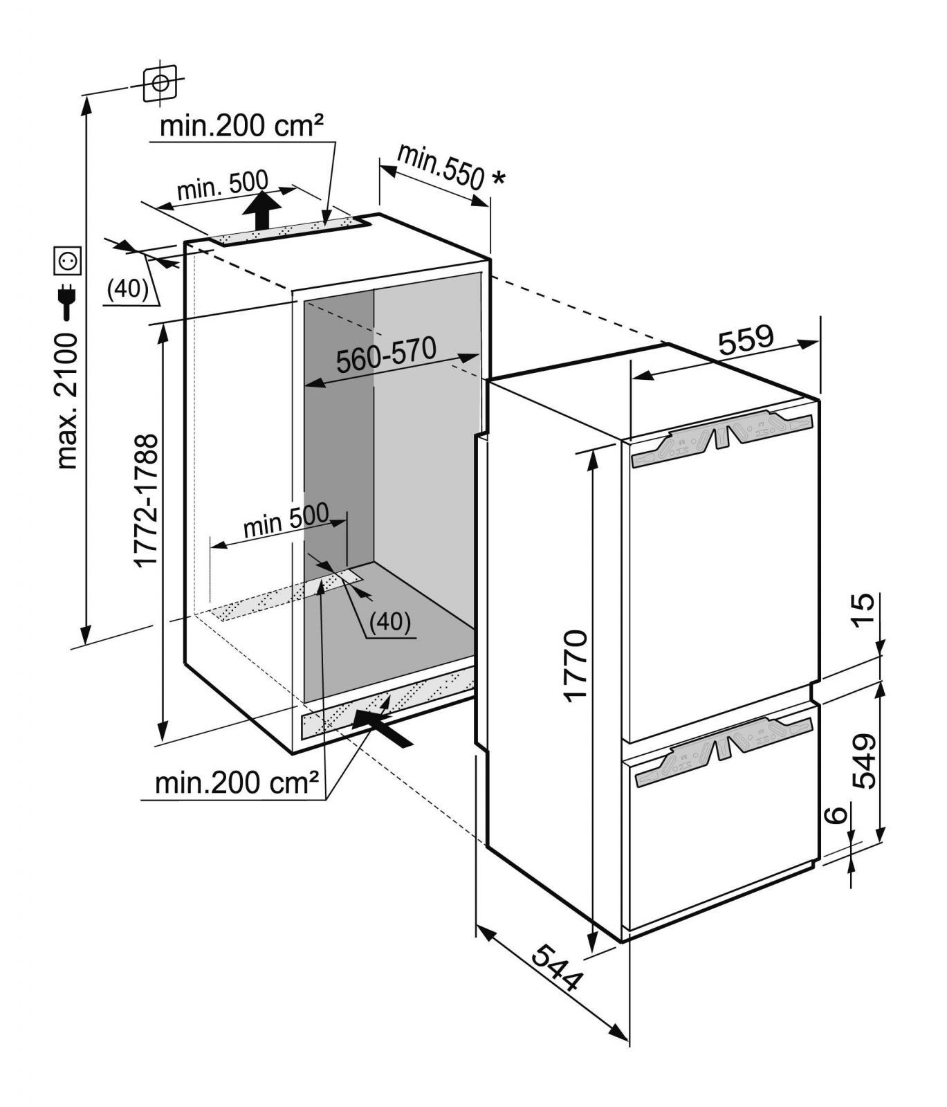 купить Встраиваемый двухкамерный холодильник Liebherr ICBP 3266 Украина фото 6