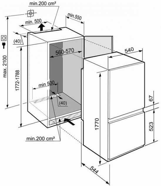 купить Встраиваемый двухкамерный холодильник Liebherr ICBS 3214 Украина фото 1