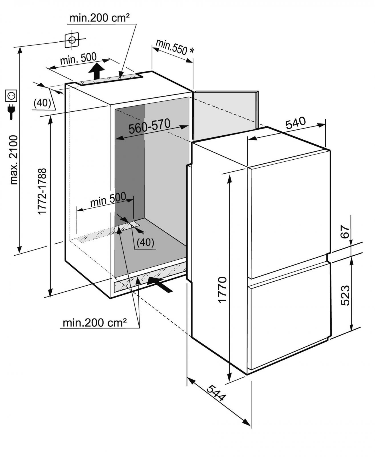 купить Встраиваемый двухкамерный холодильник Liebherr ICBS 3224 Украина фото 3