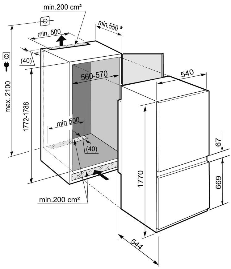 купить Встраиваемый двухкамерный холодильник Liebherr ICBS 3314 Украина фото 2