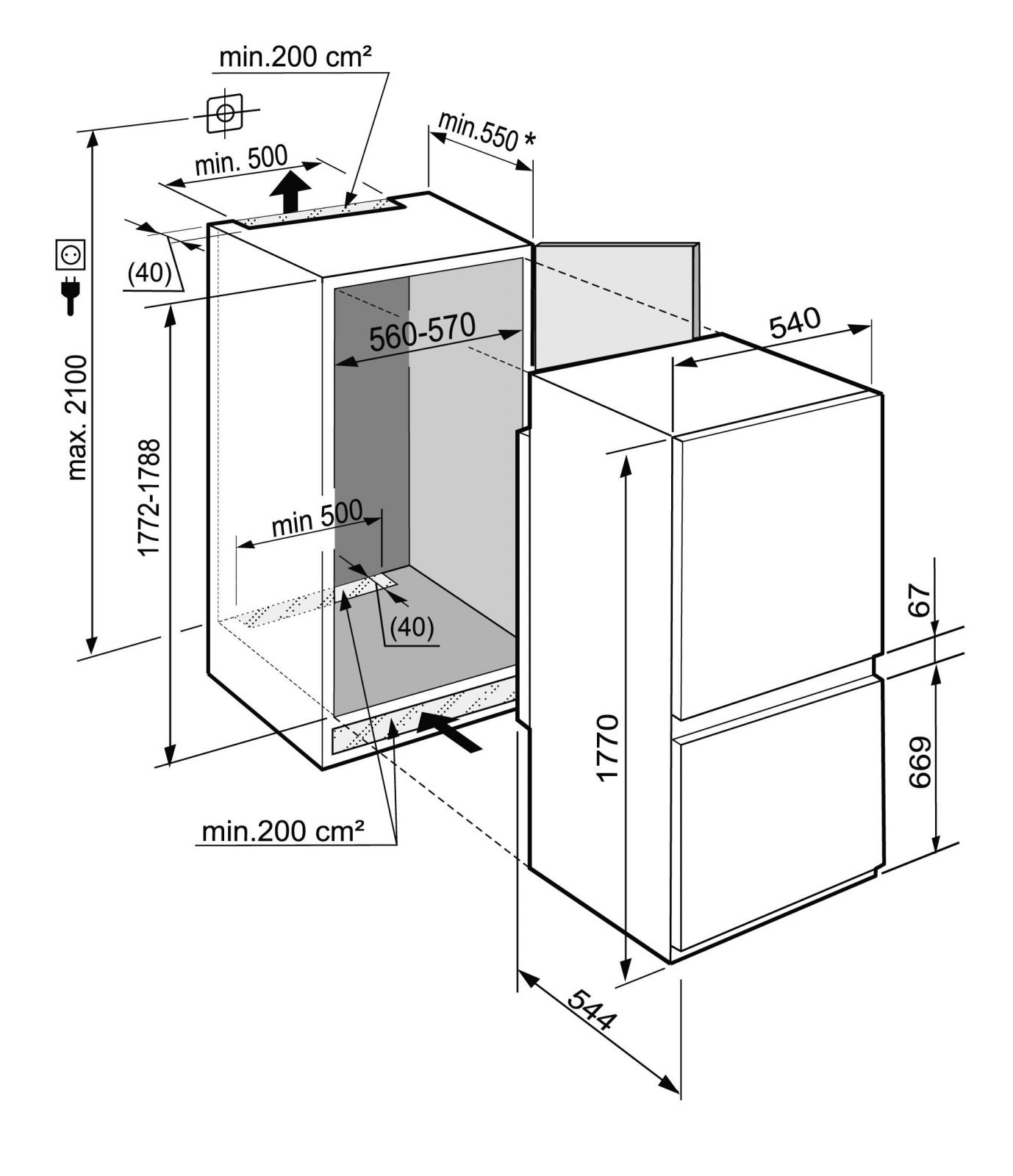 купить Встраиваемый двухкамерный холодильник Liebherr ICBS 3324 Украина фото 4