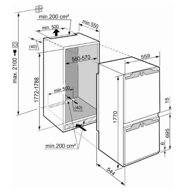 купить Встраиваемый двухкамерный холодильник Liebherr ICN 3356 Украина фото 1