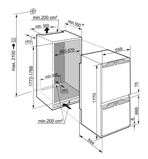 купить Встраиваемый двухкамерный холодильник Liebherr ICNP 3356 Украина фото 3