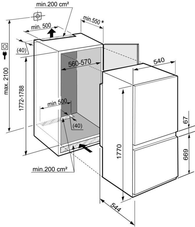 купить Встраиваемый двухкамерный холодильник Liebherr ICNS 3314 Украина фото 3