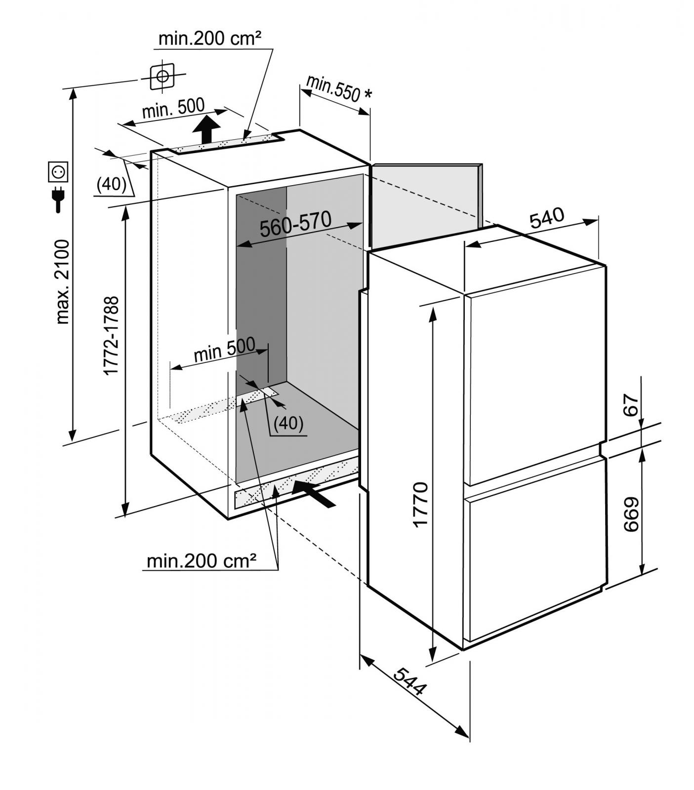 купить Встраиваемый двухкамерный холодильник Liebherr ICNS 3324 Украина фото 3