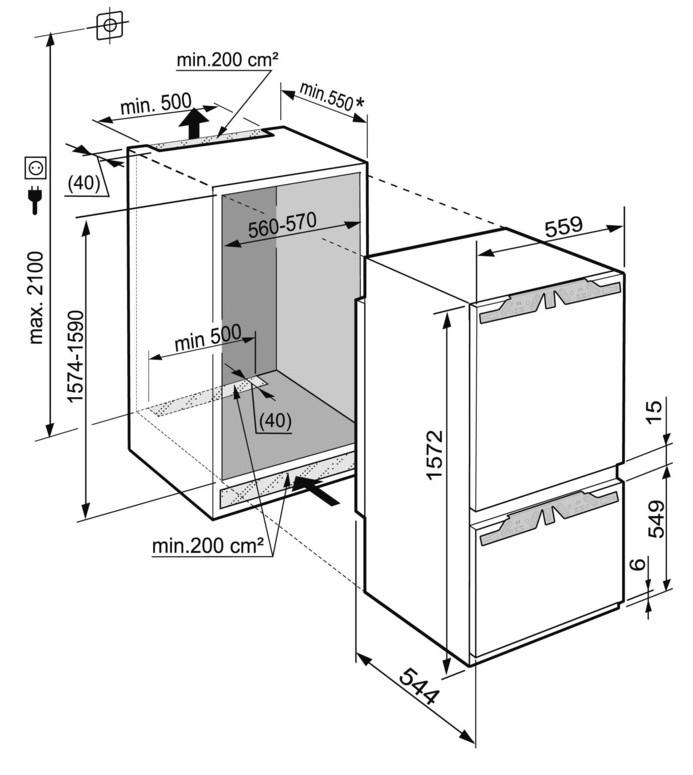 купить Встраиваемый двухкамерный холодильник Liebherr ICP 2914 Украина фото 4