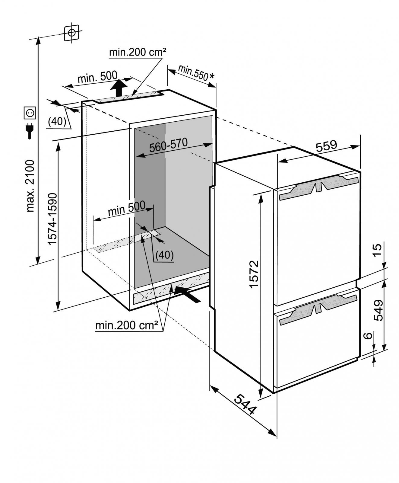 купить Встраиваемый двухкамерный холодильник Liebherr ICP 2924 Украина фото 6