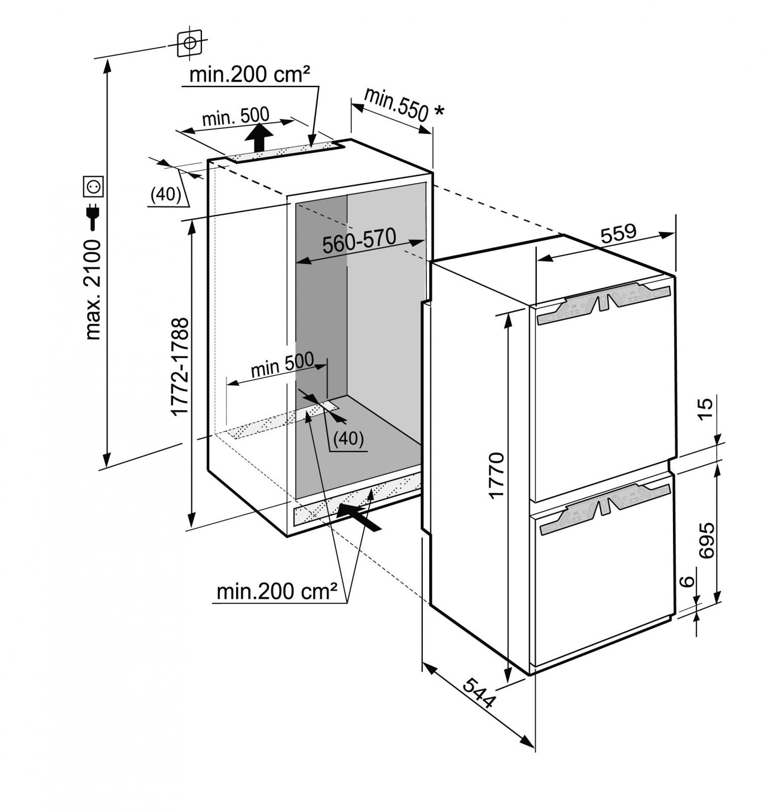 купить Встраиваемый двухкамерный холодильник Liebherr ICP 3334 Украина фото 4