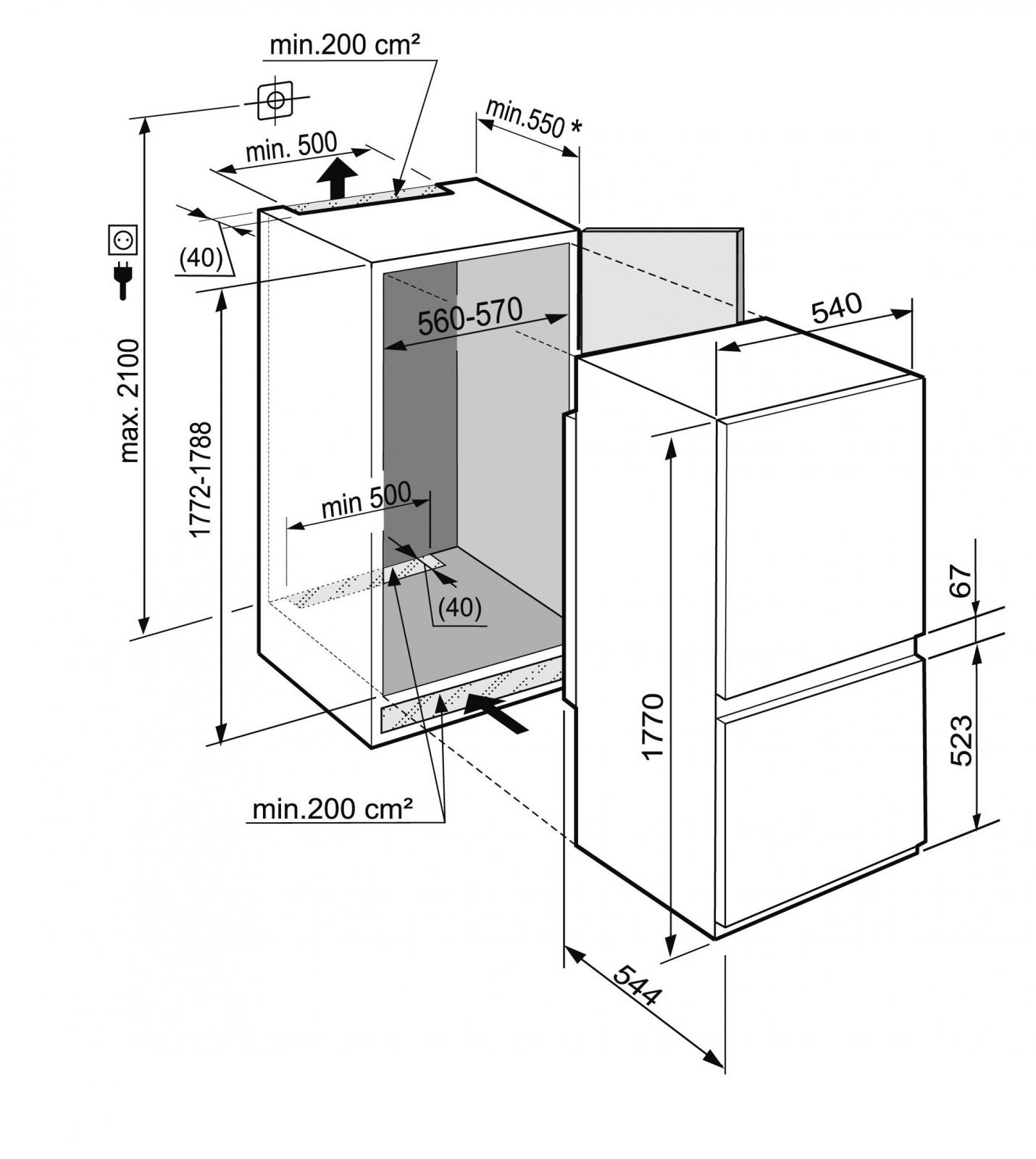 купить Встраиваемый двухкамерный холодильник Liebherr ICS 3234 Украина фото 4