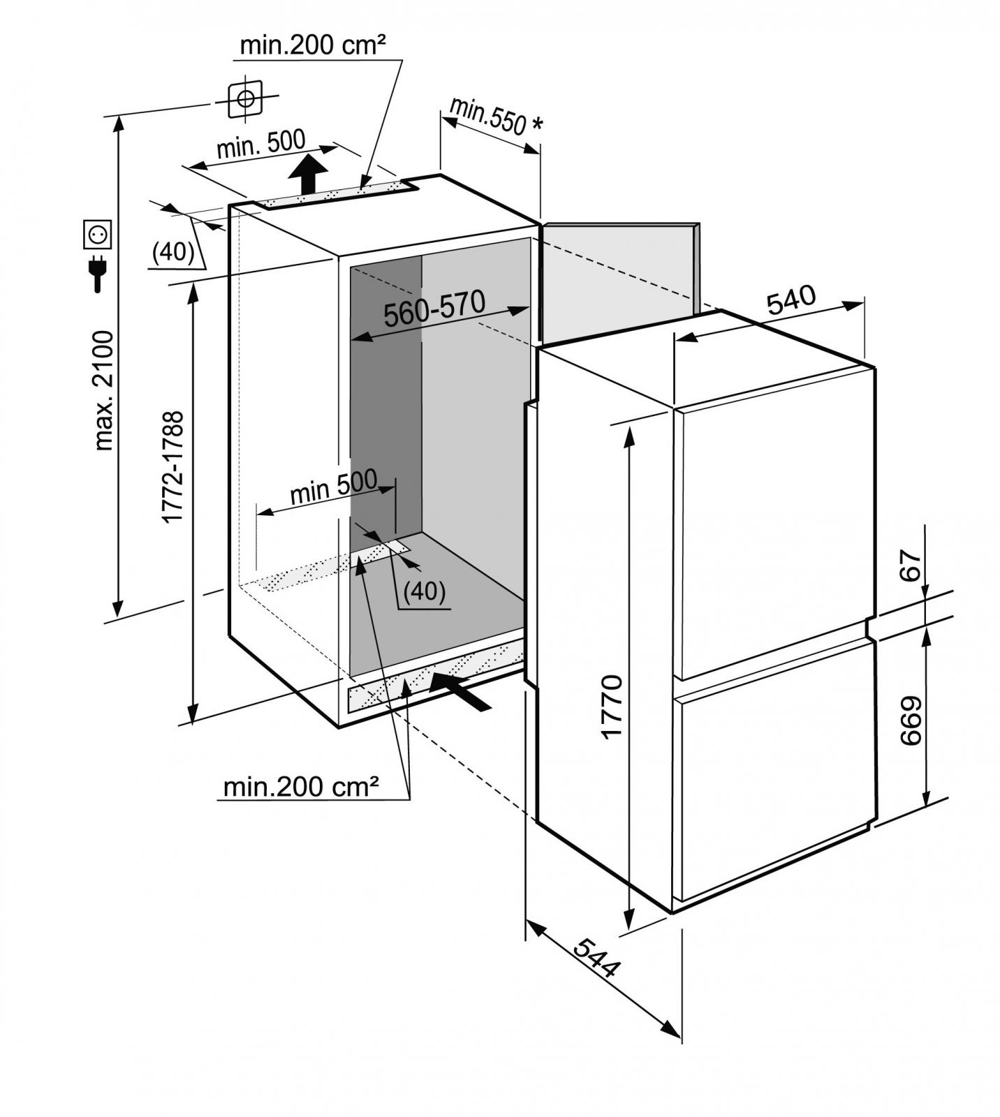 купить Встраиваемый двухкамерный холодильник Liebherr ICS 3324 Украина фото 4