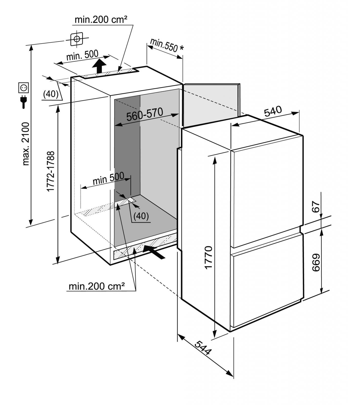 купить Встраиваемый двухкамерный холодильник Liebherr ICS 3334 Украина фото 4