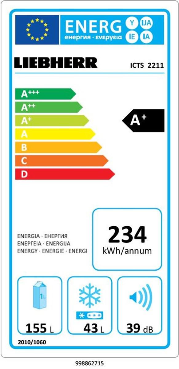 купить Встраиваемый двухкамерный холодильник Liebherr ICTS 2211 Украина фото 3