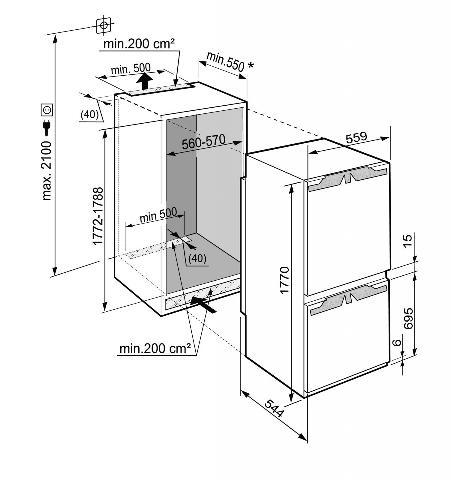 купить Встраиваемый двухкамерный холодильник Liebherr ICU 3324 Украина фото 3
