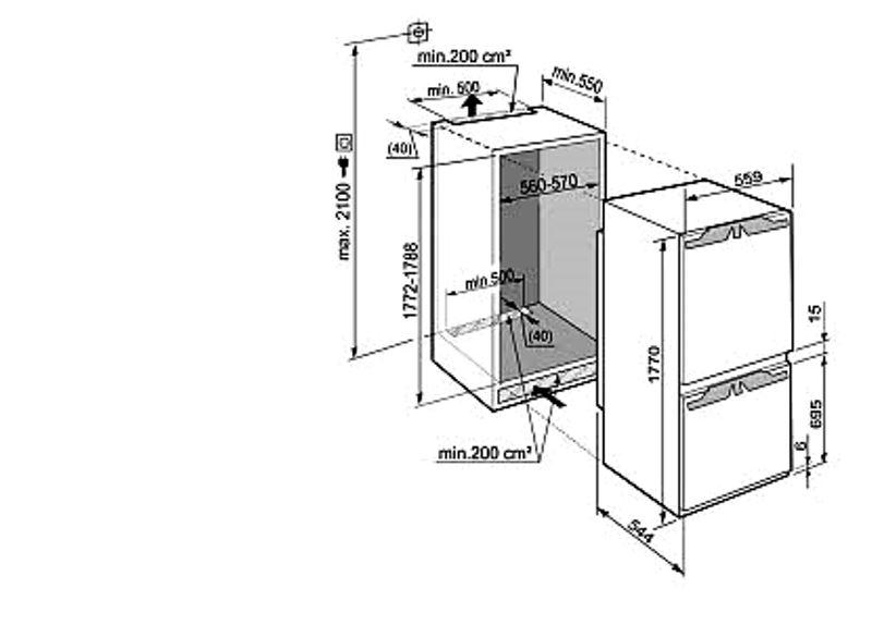 купить Встраиваемый двухкамерный холодильник Liebherr ICUN 3314 Украина фото 1