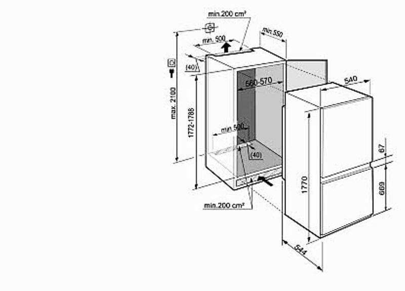 купить Встраиваемый двухкамерный холодильник Liebherr ICUNS 3314 Украина фото 1