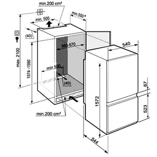 купить Встраиваемый двухкамерный холодильник Liebherr ICUS 2914 Украина фото 2