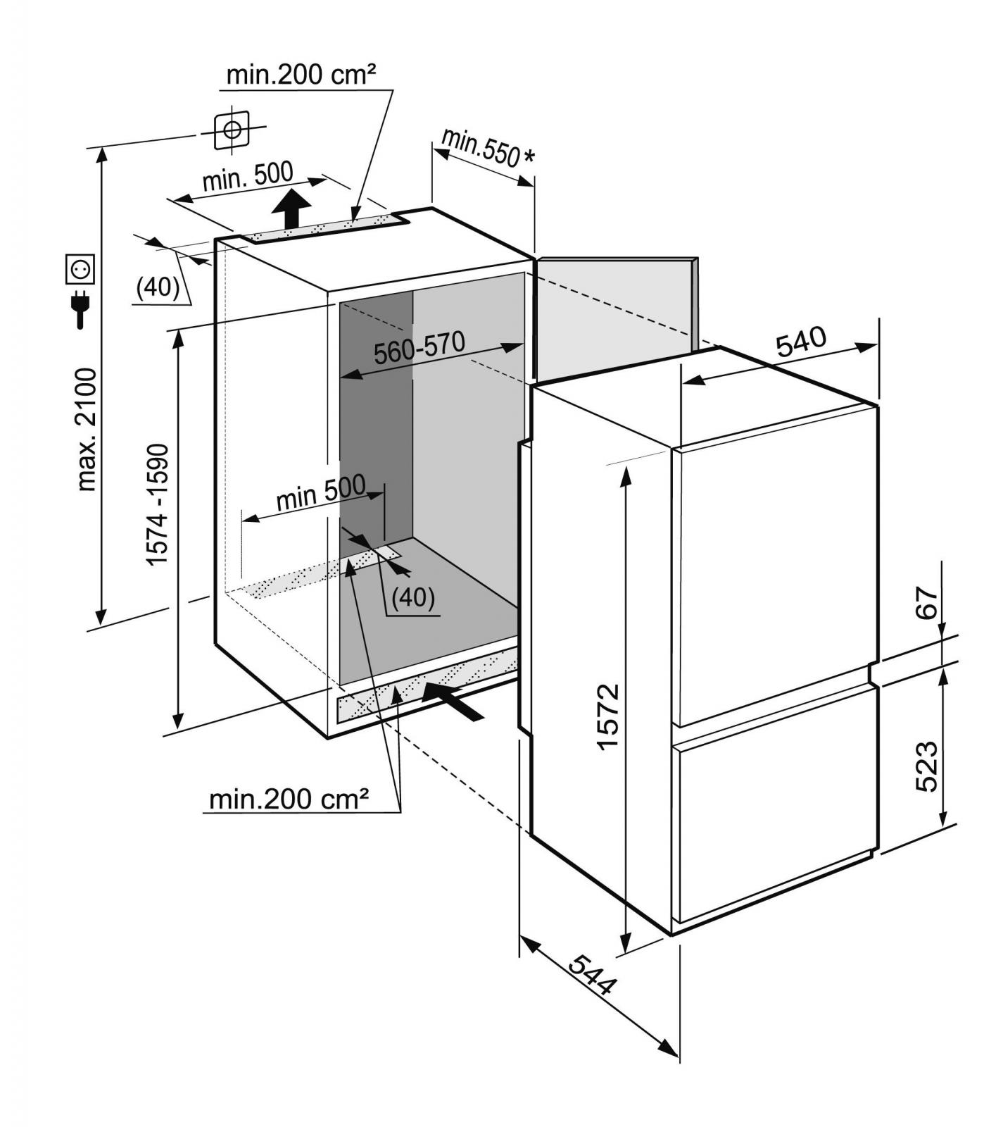 купить Встраиваемый двухкамерный холодильник Liebherr ICUS 2924 Украина фото 1